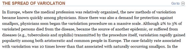 Variolation Europe